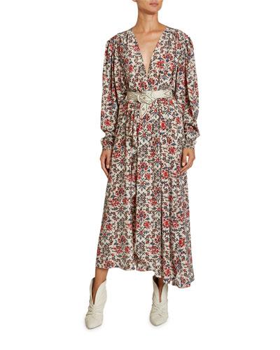 Stretch Silk Asymmetric Dress