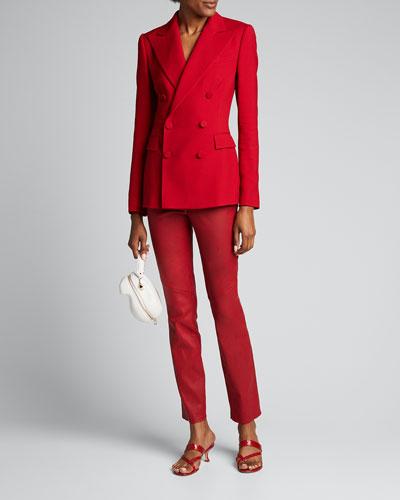 Camden Double-Breasted Wool/Silk Jacket
