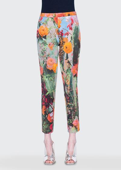 Franca Cactus Blossum Print Pants