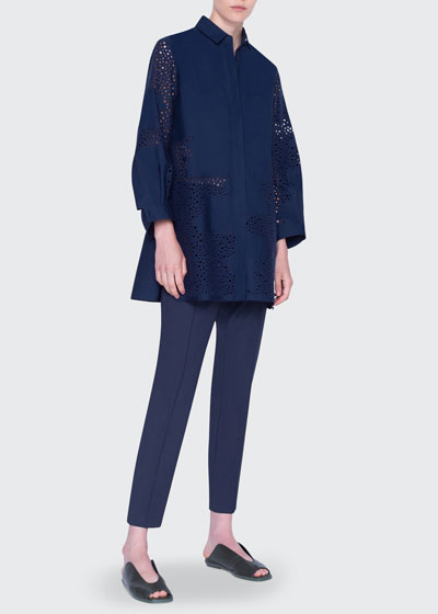 Broderie Anglaise Tunic Blouse