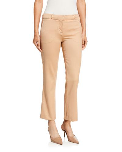 Wool Cropped Slim Pants