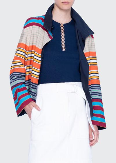 Striped Cotton Reversible Jacket