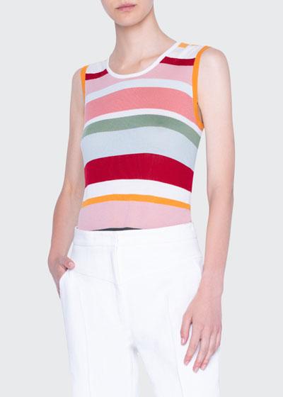 Striped Wool Sleeveless Sweater