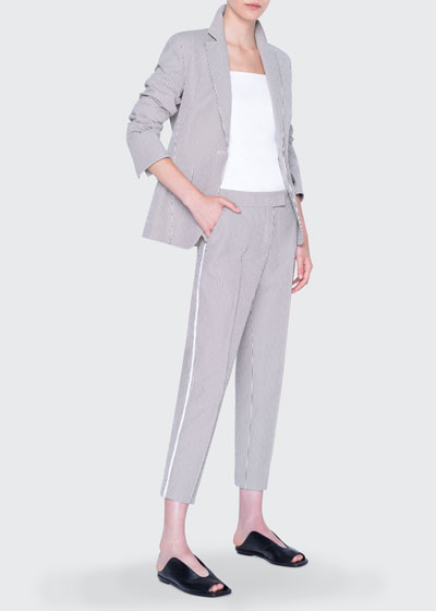 Seersucker Cotton Blazer