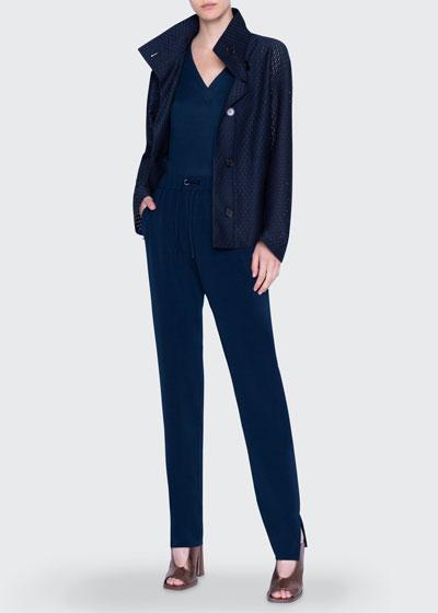 Circle Lace Zip-Up Jacket