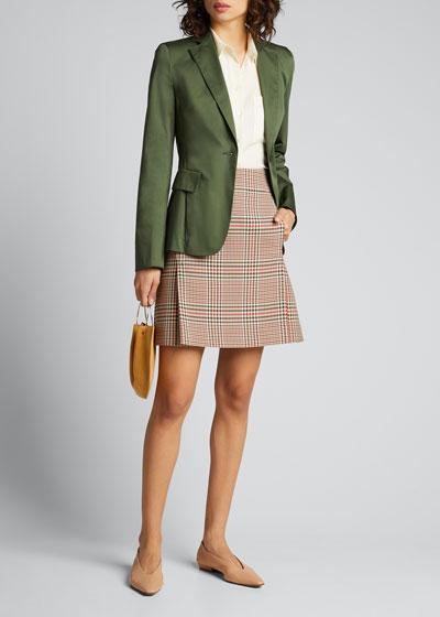 Sateen Tailored Blazer