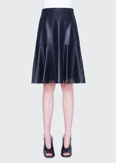 Lacquered Lace A-Line Skirt