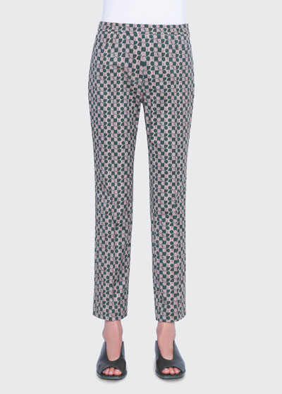 Franca Circlefield Stretch Cotton Ankle  Pants