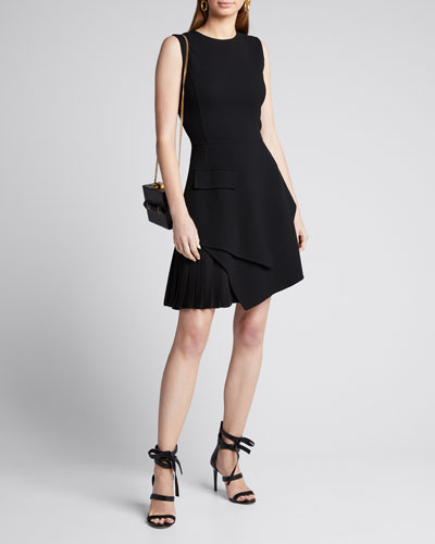 Sleeveless Asymmetrical Short A-Line Dress