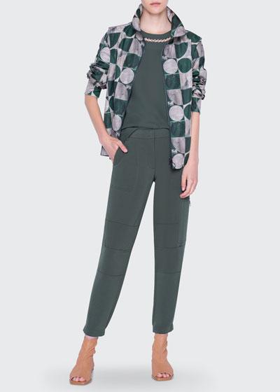 Circlefield-Print Nylon Jacket