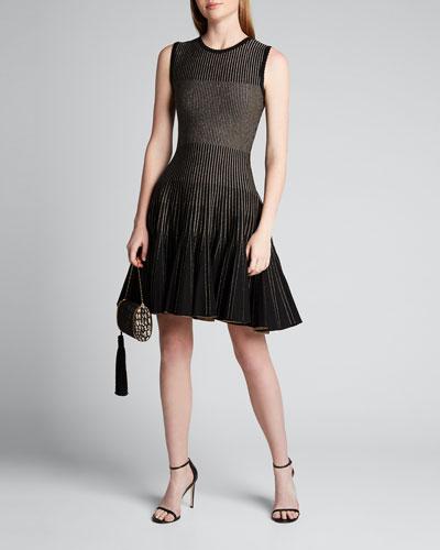 Ribbed Sleeveless Day Dress