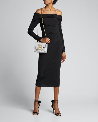 Fluid-Jersey One-Shoulder Cocktail Dress