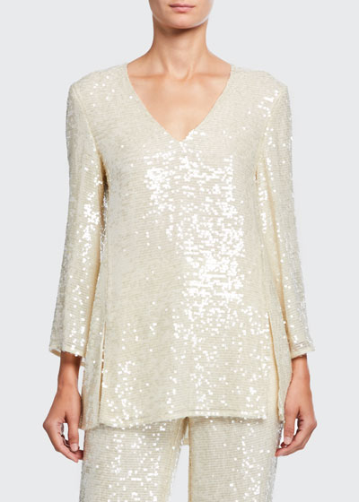 Sequined Jersey Tunic