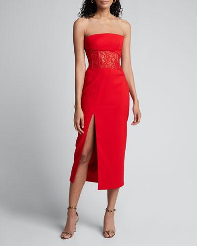 Strapless Lace-Waist Dress