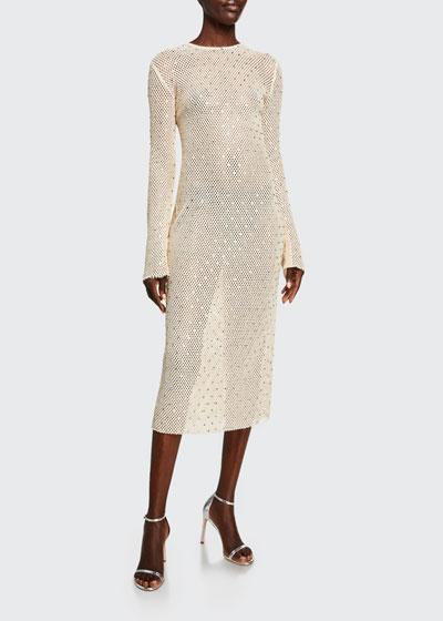 Diamond-Crocheted Bodycon Dress