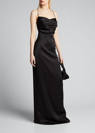 Cowl-Neck Maxi Slip Dress