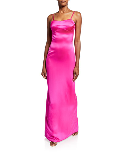 Silk Satin Bustier Gown
