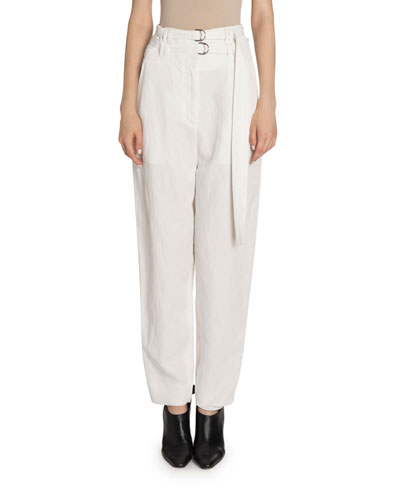 High Rise Double-Belted Pants
