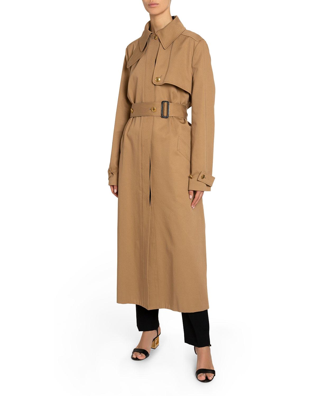 Givenchy Coats BACK-STRIPED COTTON GABARDINE TRENCH COAT