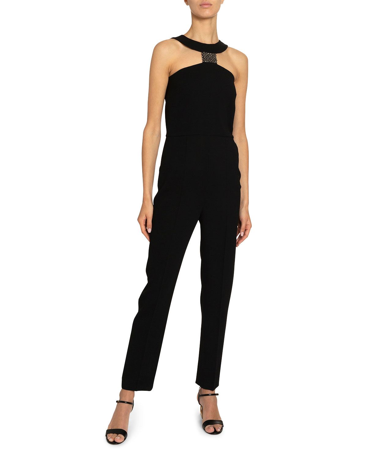 Givenchy Suits CRYSTAL T-NECK STRAIGHT-LEG JUMPSUIT