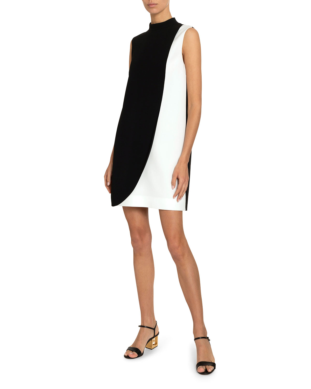 Givenchy Dresses TWO-TONE SWOOP MINI DRESS