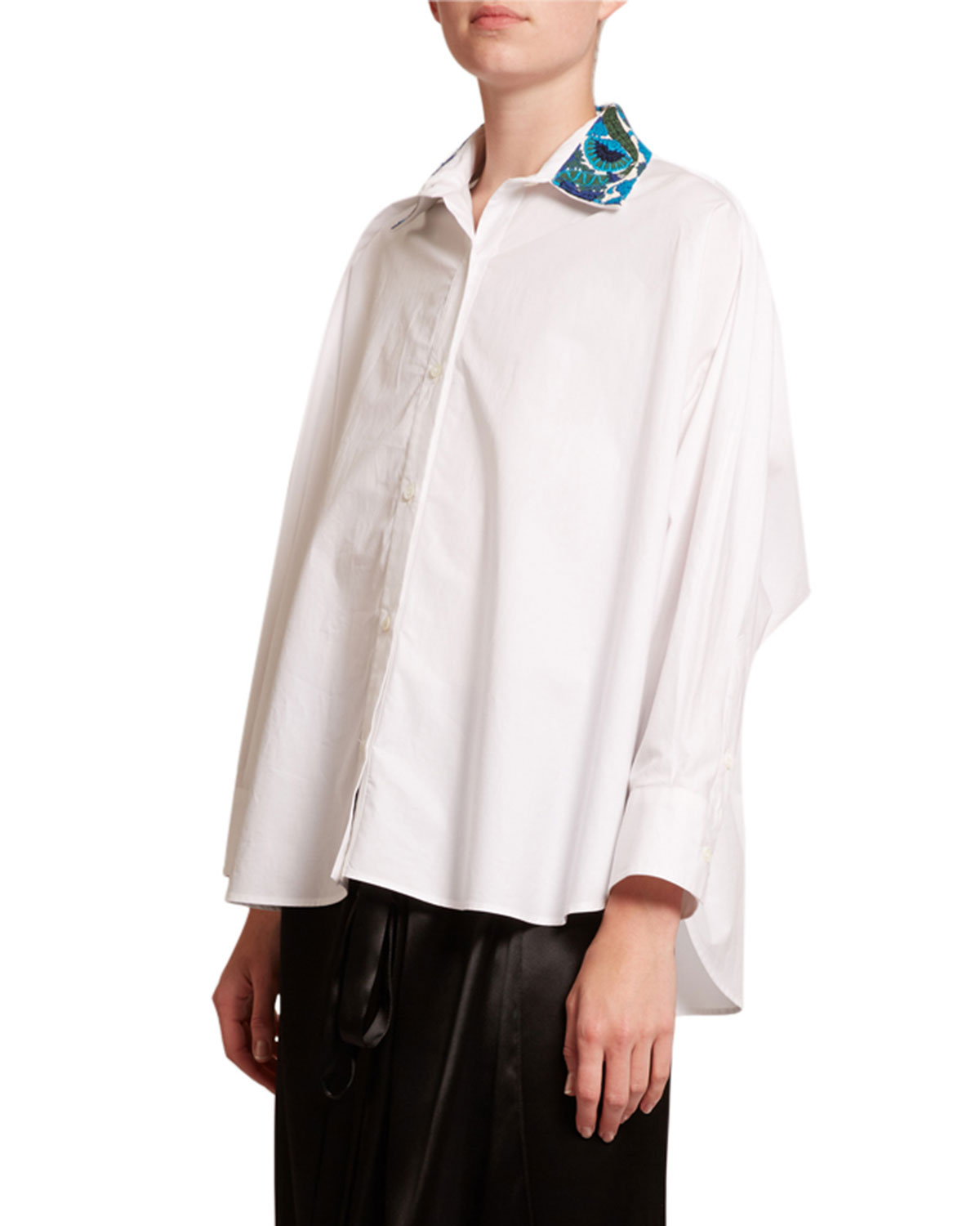 Loewe Shirts EMBROIDERED-COLLAR BUTTON-FRONT SHIRT