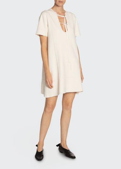 Tab-Front Short-Sleeve T-Shirt Dress