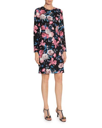 Evita Dusk Bouquet Pencil Dress