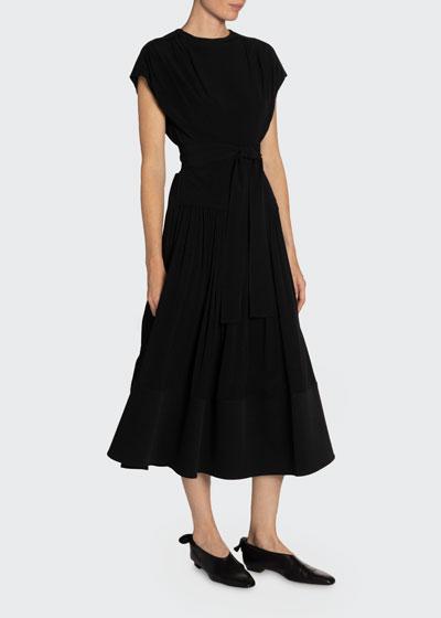 Short-Sleeve Combo Dress