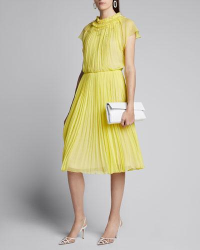 Crinkled Chiffon Day Dress