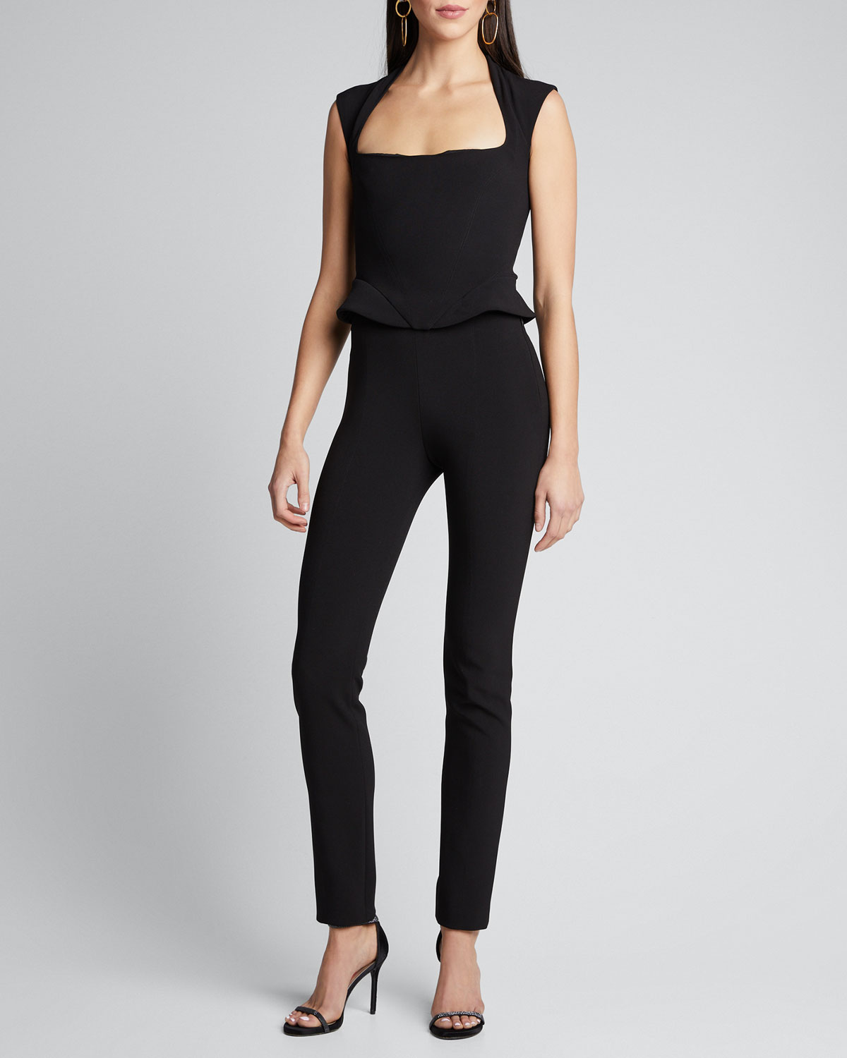 Mugler Pants HIGH-WAIST CREPE PANTS
