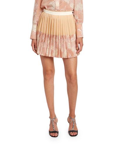 Scale Print Crepe de Chine Skirt