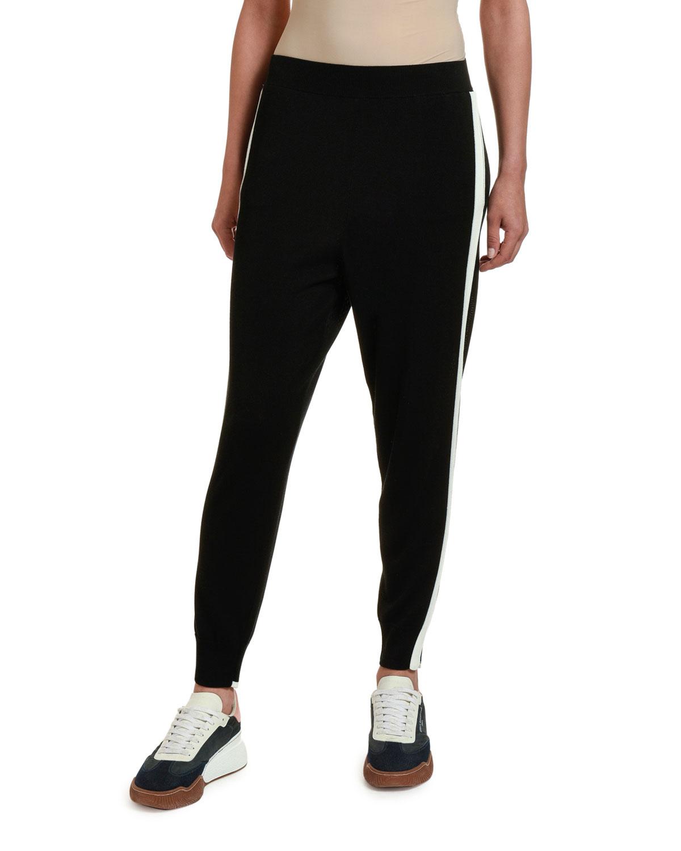 Stella Mccartney Pants TRACK-STRIPED SLIT-CUFF TROUSERS