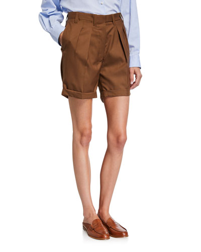 Double-Pinces Tailored Shorts
