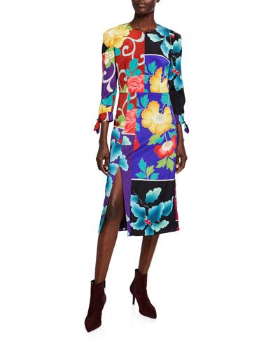 Japanese Floral Patchwork Dress