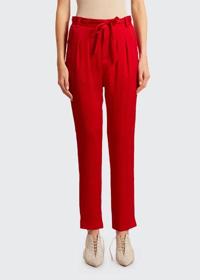 Biltmore Hammered Silk Trousers