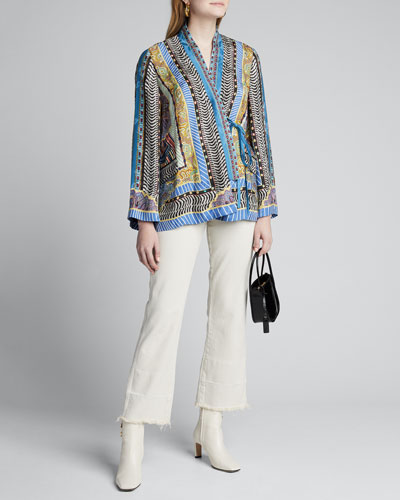 Dreamtime Paisley Silk Wrapped Jacket