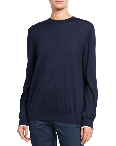 Cashmere Piped Sweater