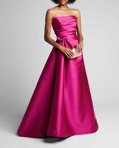 Strapless Duchess Satin Gown