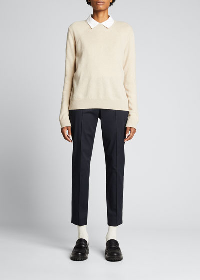 Mirel Stretch Cotton Midi Pants