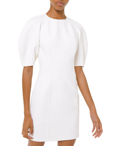 Dolman-Sleeve Crepe Sheath Dress