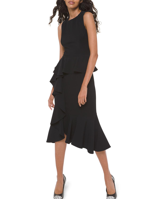 Michael Kors Dresses ASYMMETRIC CASCADING SHEATH DRESS