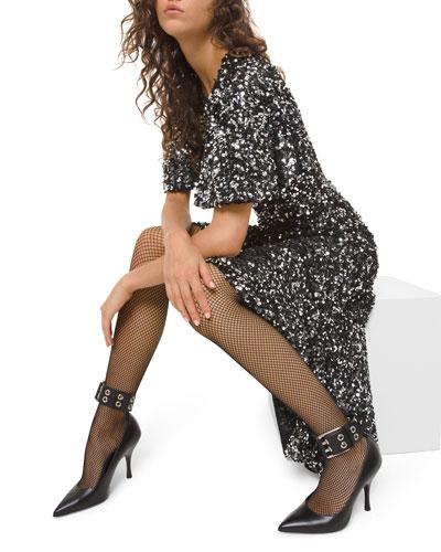 Sequined Asymmetric Dress