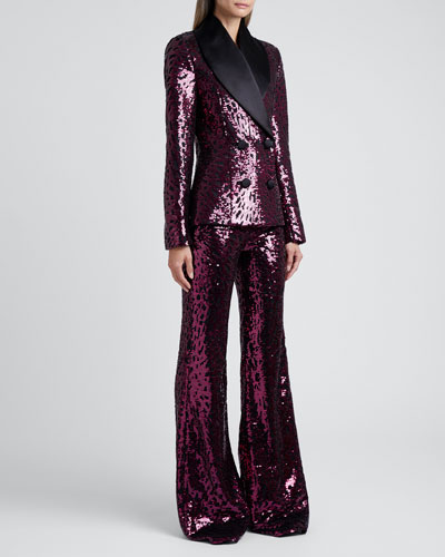Tailored Sequined Blazer
