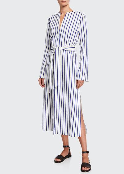 Dudley Cashmere Tie-Front Dress
