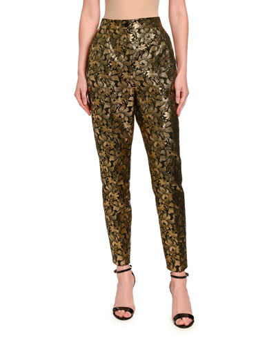 Jacquard Lame Slim Pants