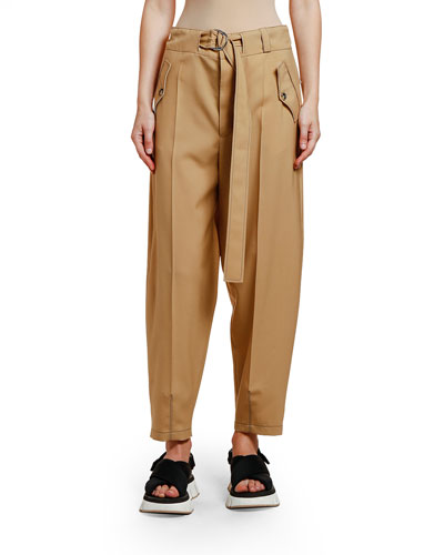Belted Wool Utility Trousers