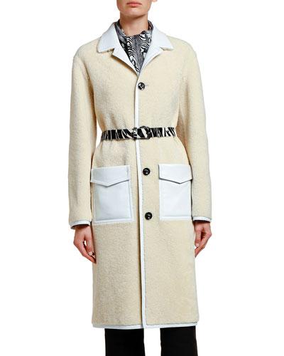 Shearling Duster Coat