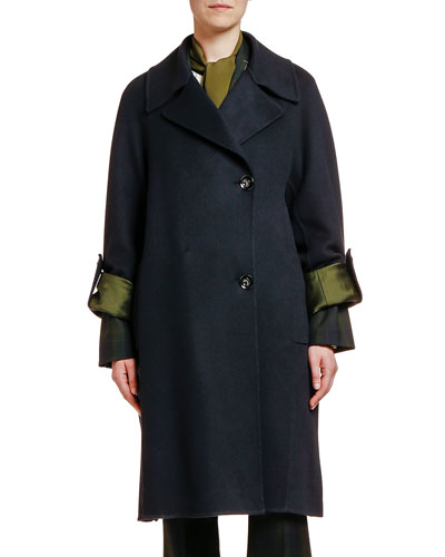 Wool-Cashmere Two-Button Duster Coat