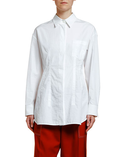 Princess Seamed Poplin Shirt